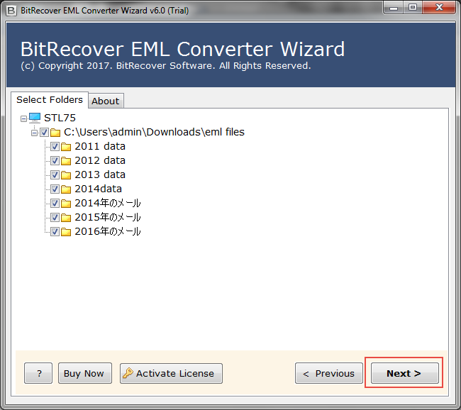 free eml to outlook msg conversion tool show all eml files or folders