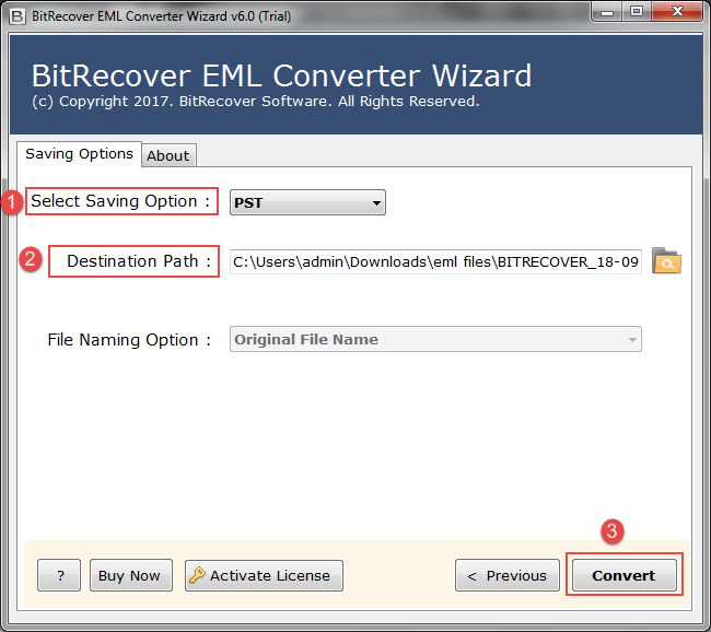 Try free EML to PST Converter