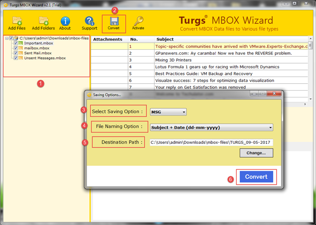 Try Free MBOX to Outlook MSG Converter
